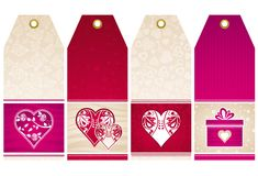 Valentines  labels, vector Royalty Free Stock Photography