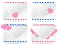 Valentines letter icon Royalty Free Stock Photography