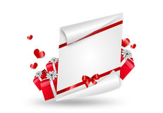 Valentines letter illustration Stock Photography