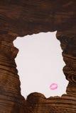 Valentines letter stock photos