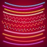 Valentines Lights Decorations Set Royalty Free Stock Photography