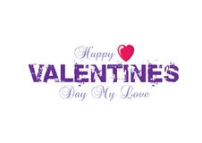 Valentines logotype with path Royalty Free Stock Photos