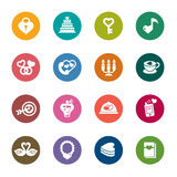 Valentines and Love Color Icons. A collection of different kinds of valentines and love color icons. It contains hi-res JPG, PDF and Illustrator 9 files vector illustration
