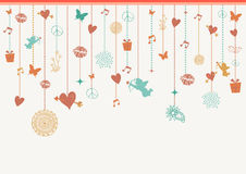 Valentines love greeting card background elements Royalty Free Stock Image