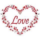 Valentines Love Heart Shape with drawing  Stock Photography