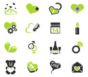 Valentines and Love Icons Stock Photography