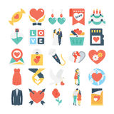 Valentines, Love, Romance, Marriage Vector Icons 6 Royalty Free Stock Image