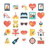 Valentines, Love, Romance, Marriage Vector Icons 7 Stock Image