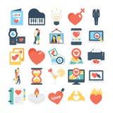 Valentines, Love, Romance, Marriage Vector Icons 8 stock illustration