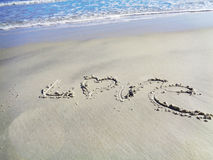 Valentines love word on beach Stock Photography