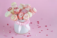 Valentines marshmallow pops Stock Image