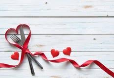 Valentines menu Royalty Free Stock Photos