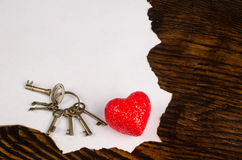 Valentines message still life Royalty Free Stock Photos