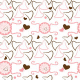Valentines motives background with hearts Royalty Free Stock Photos