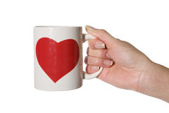 Valentines Mug Stock Photography