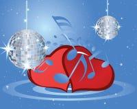 Valentines music background stock illustration