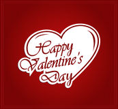 Valentines paper poster. Vector illustration Royalty Free Stock Photos