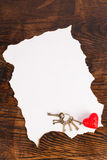 Valentines parchment Royalty Free Stock Image