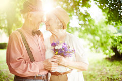 Valentines in park Royalty Free Stock Photo