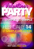 Valentines Party Flyer/Poster Royalty Free Stock Photography
