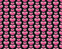 Valentines pattern. Valentines paper with pink heart on black background Royalty Free Stock Photos