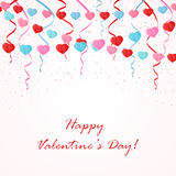 Valentines pennants Stock Photography