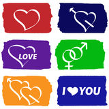 Valentines pictograms Royalty Free Stock Photo