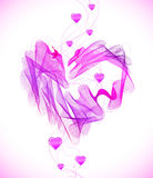 Valentines pink abstract heart Royalty Free Stock Images