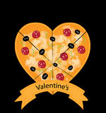 Valentines Pizza Stock Photo