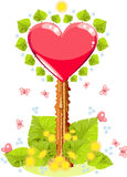 Valentines pointer illustration royalty free stock photos