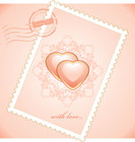 Valentines postage stamp Royalty Free Stock Photos