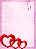 Valentines postcard Royalty Free Stock Images