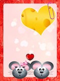 Valentines postcard Royalty Free Stock Photography