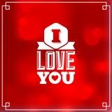 Valentines postcard Royalty Free Stock Image