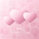 Valentines postcard. Vector pink postcard for valentine day Stock Image