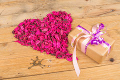 Valentines present royalty free stock photography