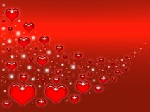 Valentines red background Royalty Free Stock Photography