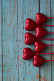 Valentines Red Hearts Stock Photos