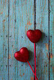 Valentines Red Hearts Royalty Free Stock Images