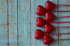 Valentines Red Hearts Stock Photography