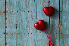 Valentines Red Hearts Stock Image