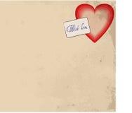 Valentines retro background Royalty Free Stock Image