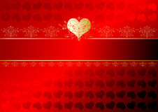Valentines ribbon Royalty Free Stock Images