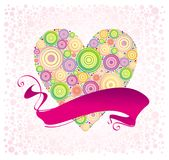 Valentines and ribbon Stock Photography