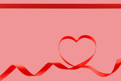 Valentines ribbon heart Stock Image