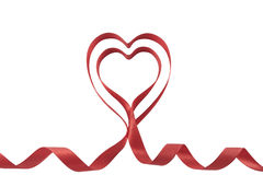 Valentines ribbon hearts Royalty Free Stock Photography