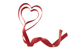 Valentines ribbon hearts Stock Photo