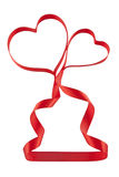 Valentines ribbon hearts Royalty Free Stock Photo