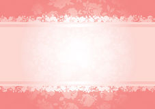 Valentines roses background pattern. With copy space. All elements are separate and fully editable Royalty Free Stock Image