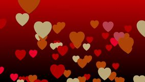 Valentines's day concept. Hearth floating on red background valentines's day concept stock video